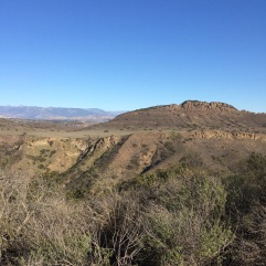 Looking across to Wildwood Mesa from Lynnmere.