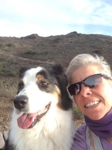 Selfie on Vista del Mar trail